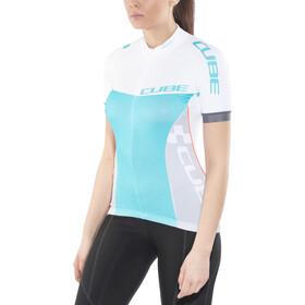 Cube Teamline Koszulka rowerowa Kobiety, white'n'blue'n'grey